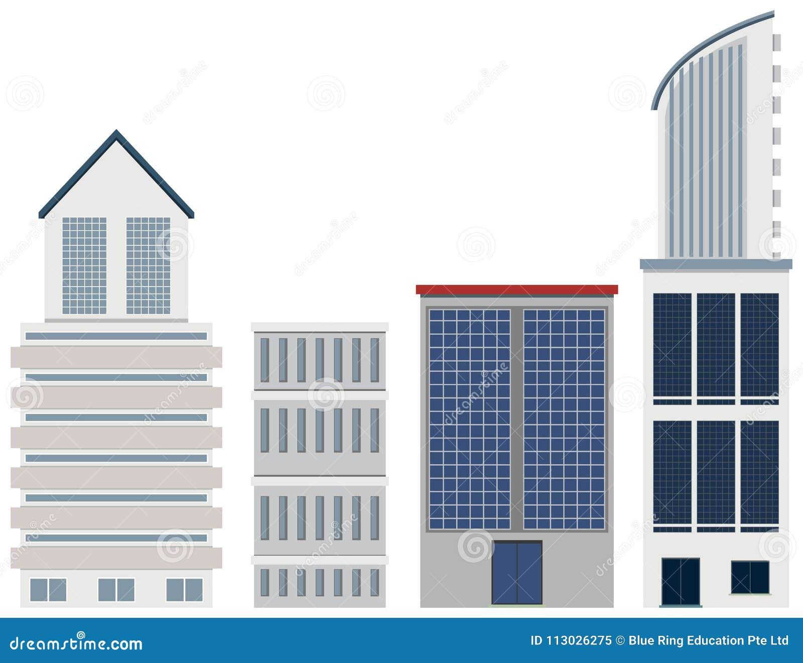 Edificios en diverso diseño