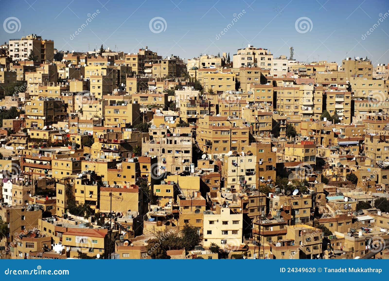 Edificios en la ciudad de amman jordania foto de archivo for A to z salon amman