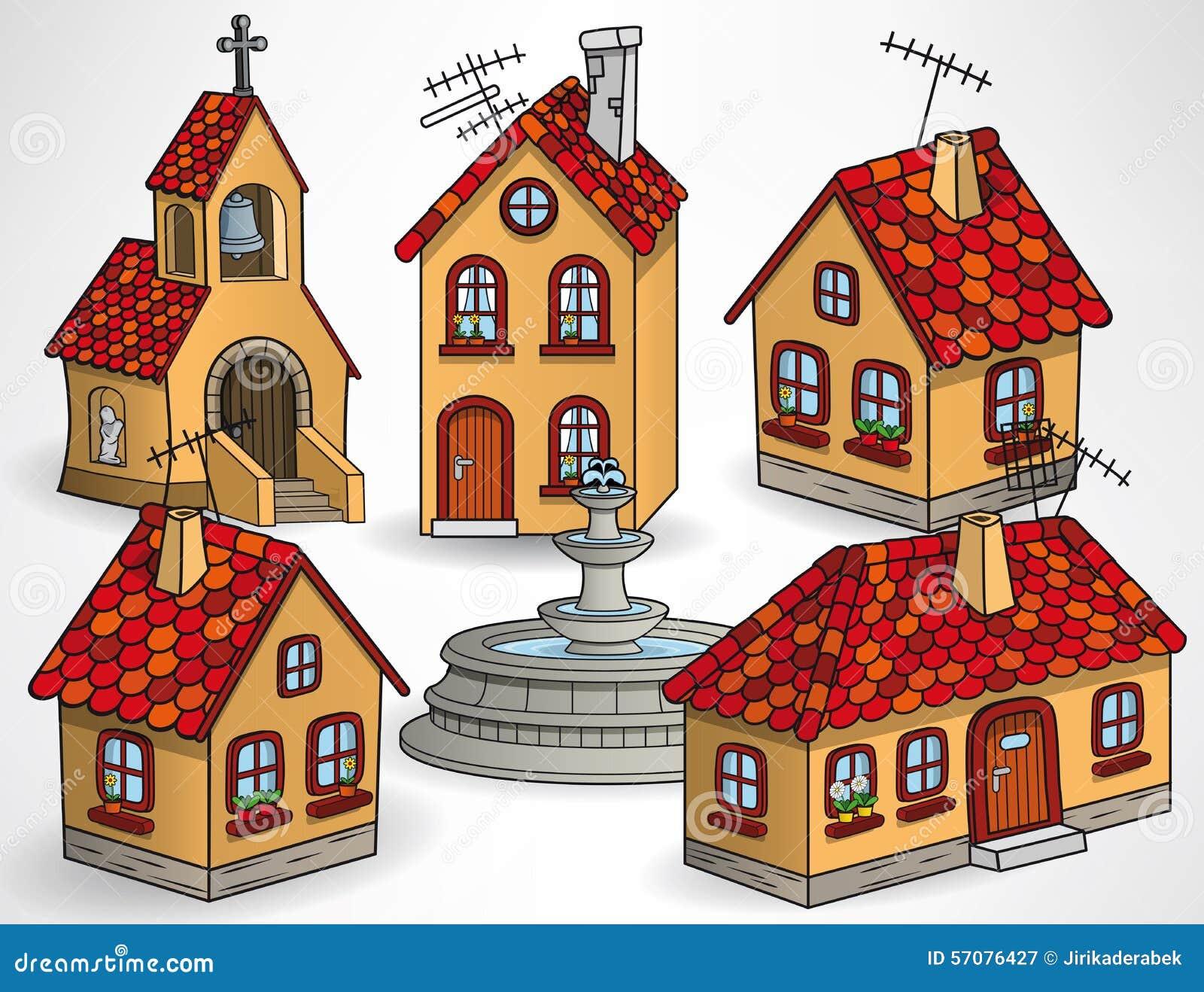 Edificios europeos del pueblo