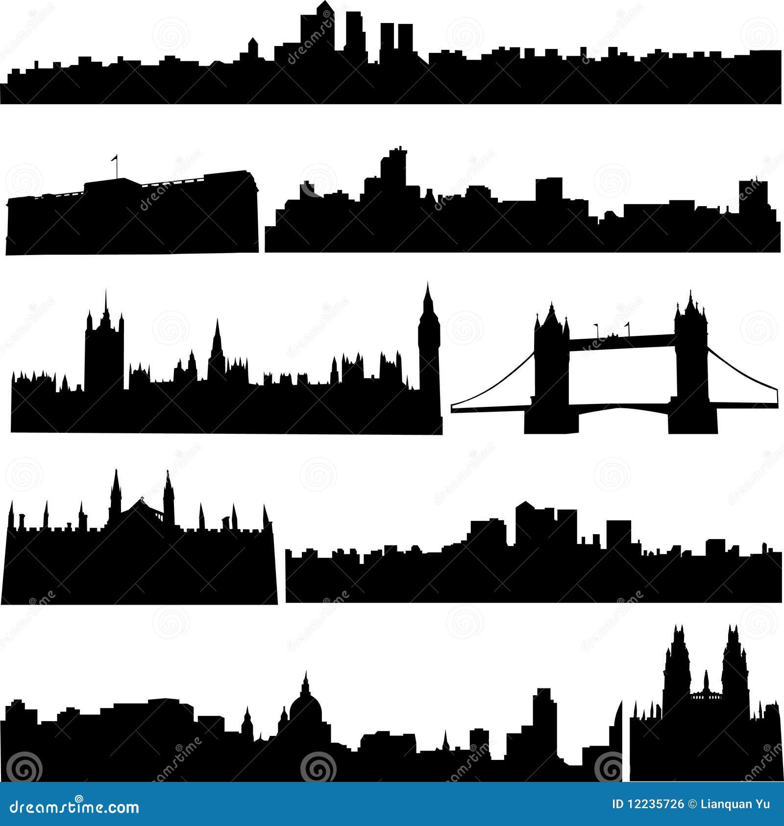 Edificios famosos de Gran Bretaña.