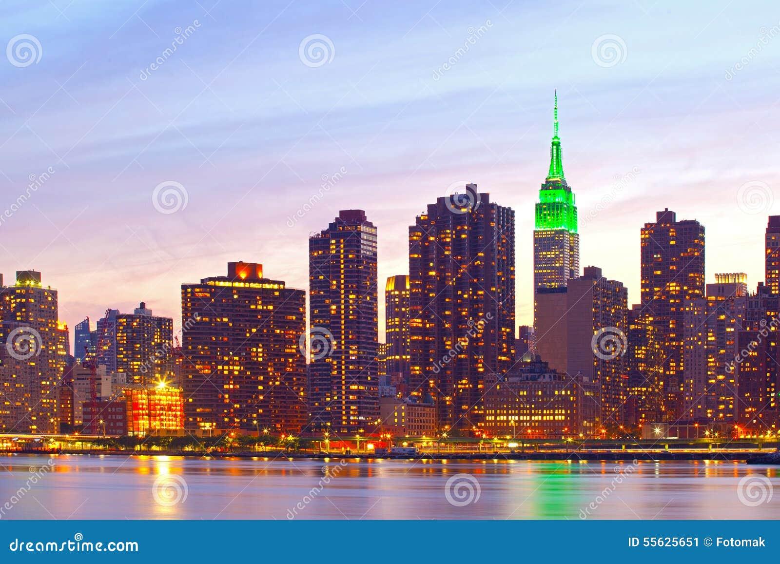 edificios famosos de la seal de new york city manhattan imagen de archivo