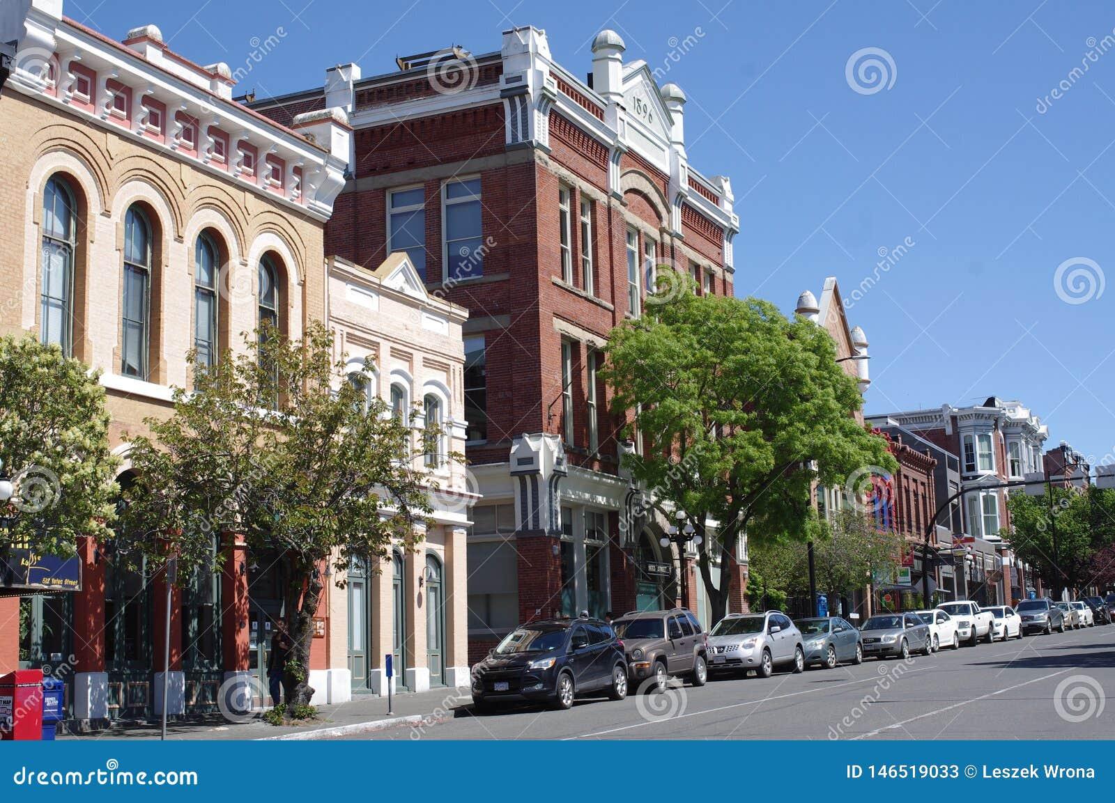 Edificios hist?ricos en Victoria c?ntrica, Canad?