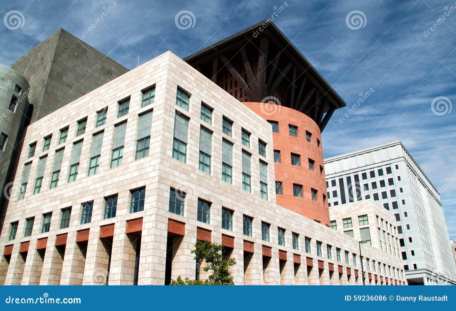 Download Edificios Modernos Céntricos En Denver, Colorado Foto de archivo - Imagen de financiero, lago: 59236086
