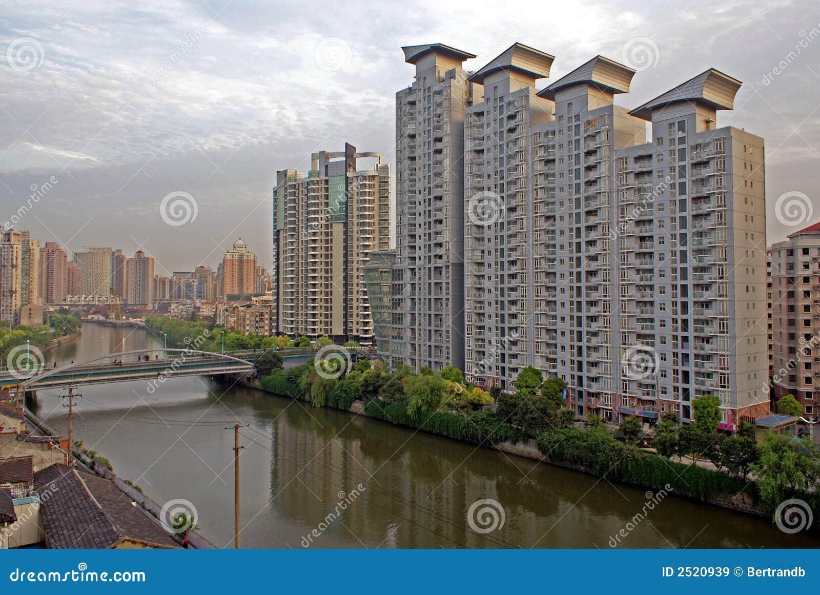 Edificios modernos de Shangai