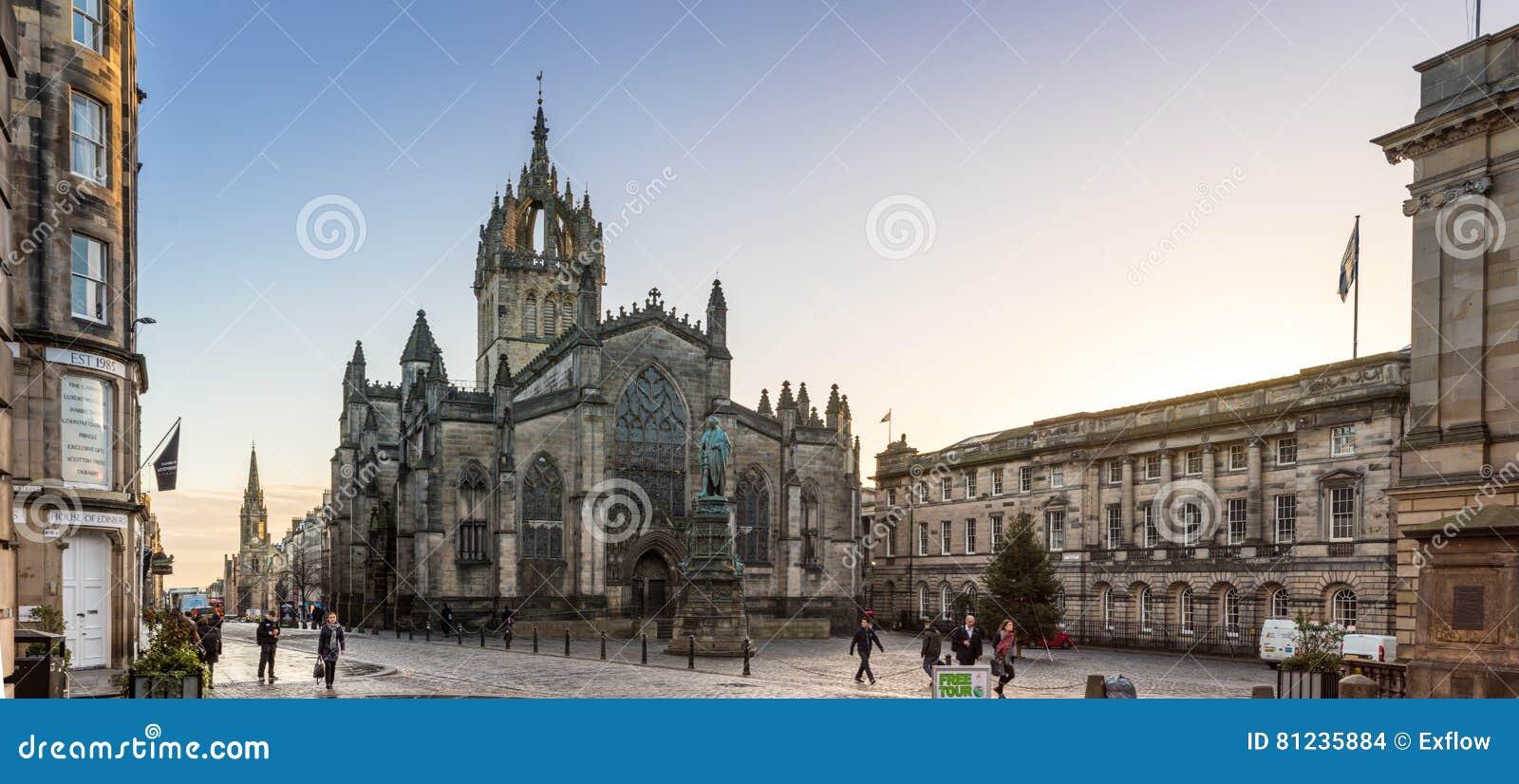 Edimburgo, Escócia, Reino Unido - 16 de novembro de 2016: St Giles Cathedral