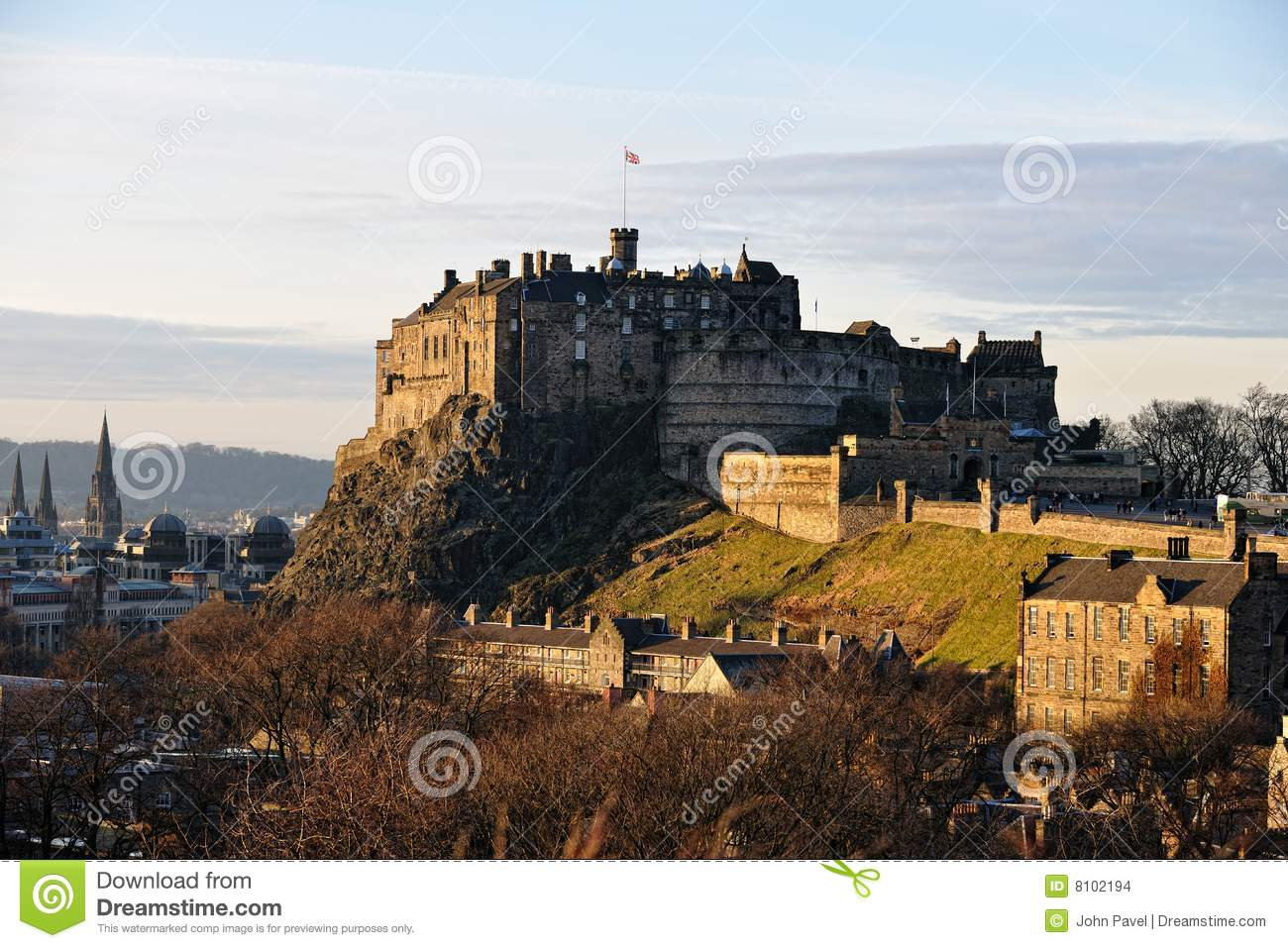 Edinburgh Castle, Scotland, in winter light