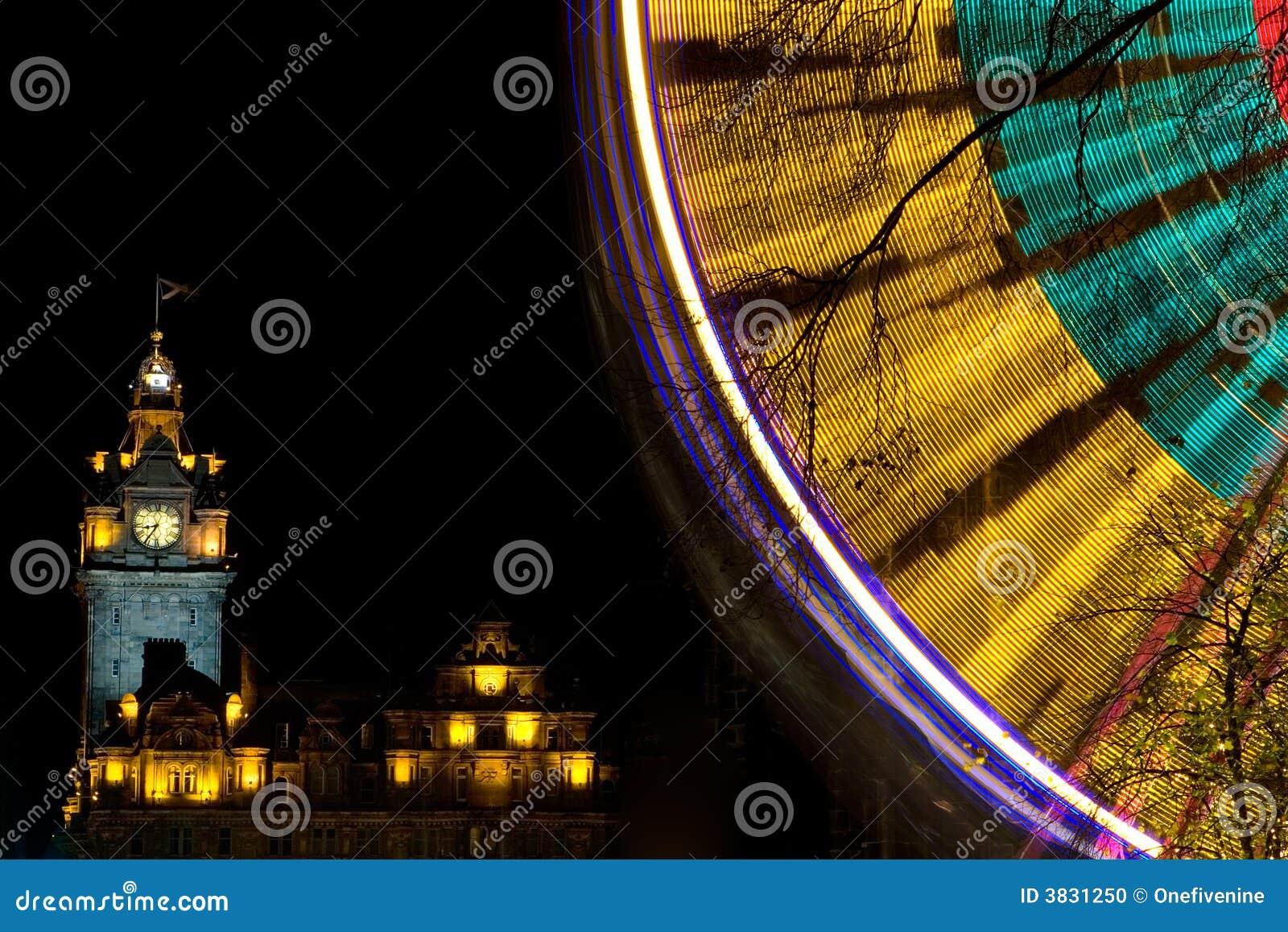 Edinburgh Christmas Lights Stock Photo Image 3831250