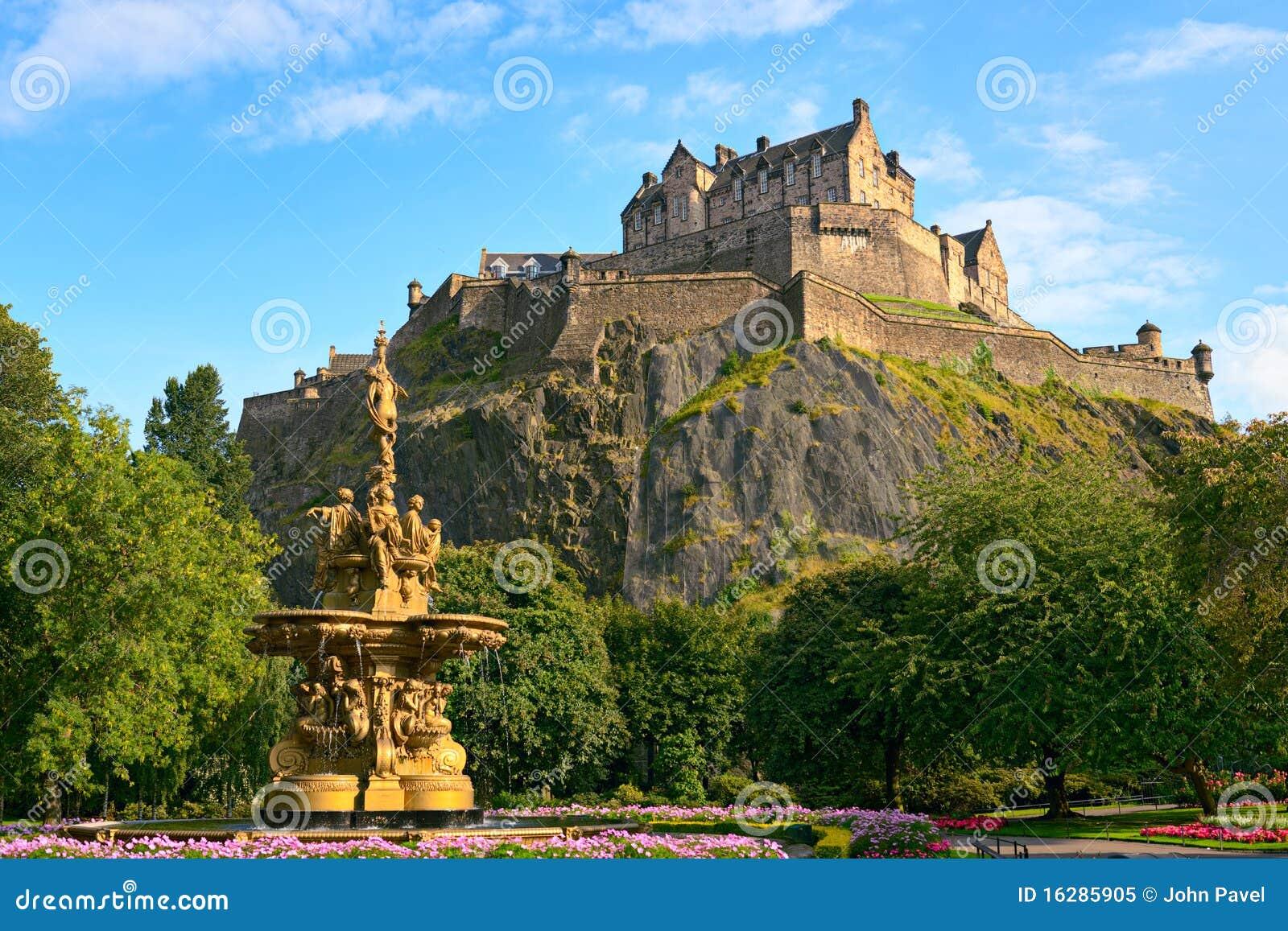 Edinburgh-Schloss, Schottland, Ross-Brunnen