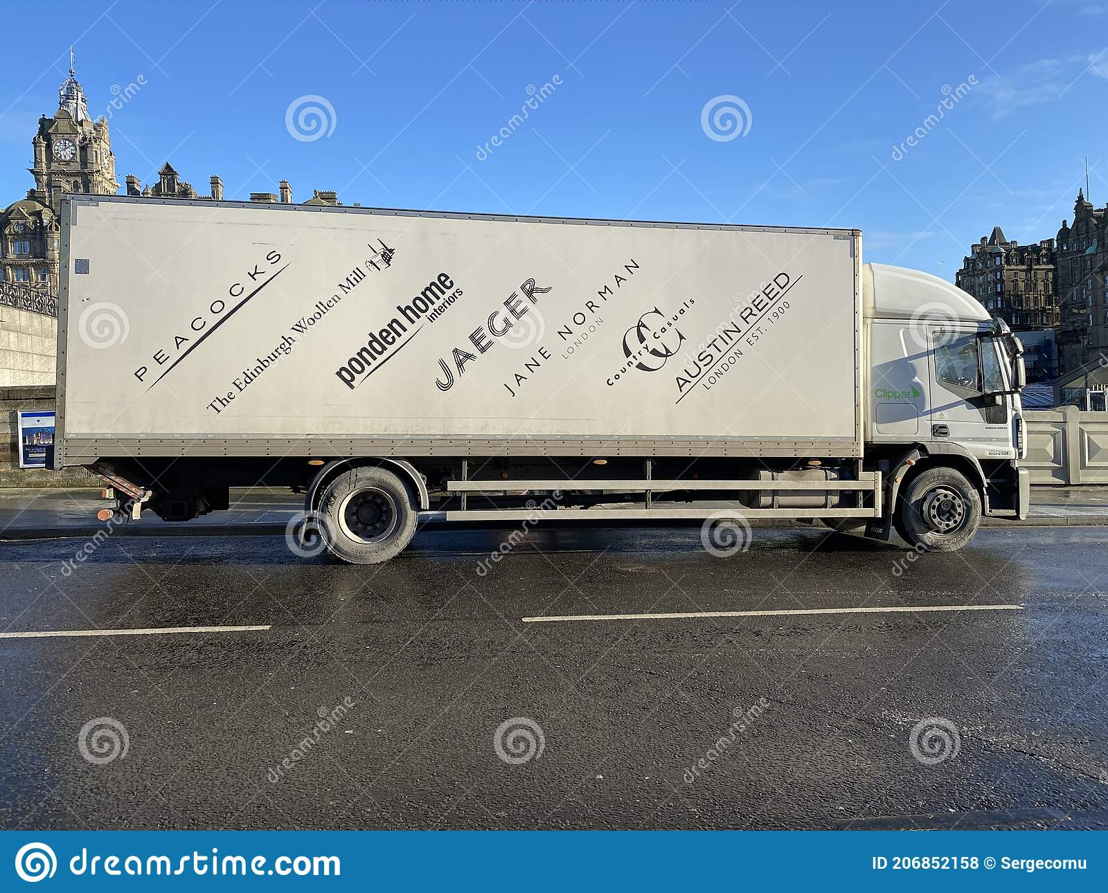 Edinburgh Woollen Mill Lorry Parked On The Street Editorial Stock Photo Image Of Finance Jaeger 206852158