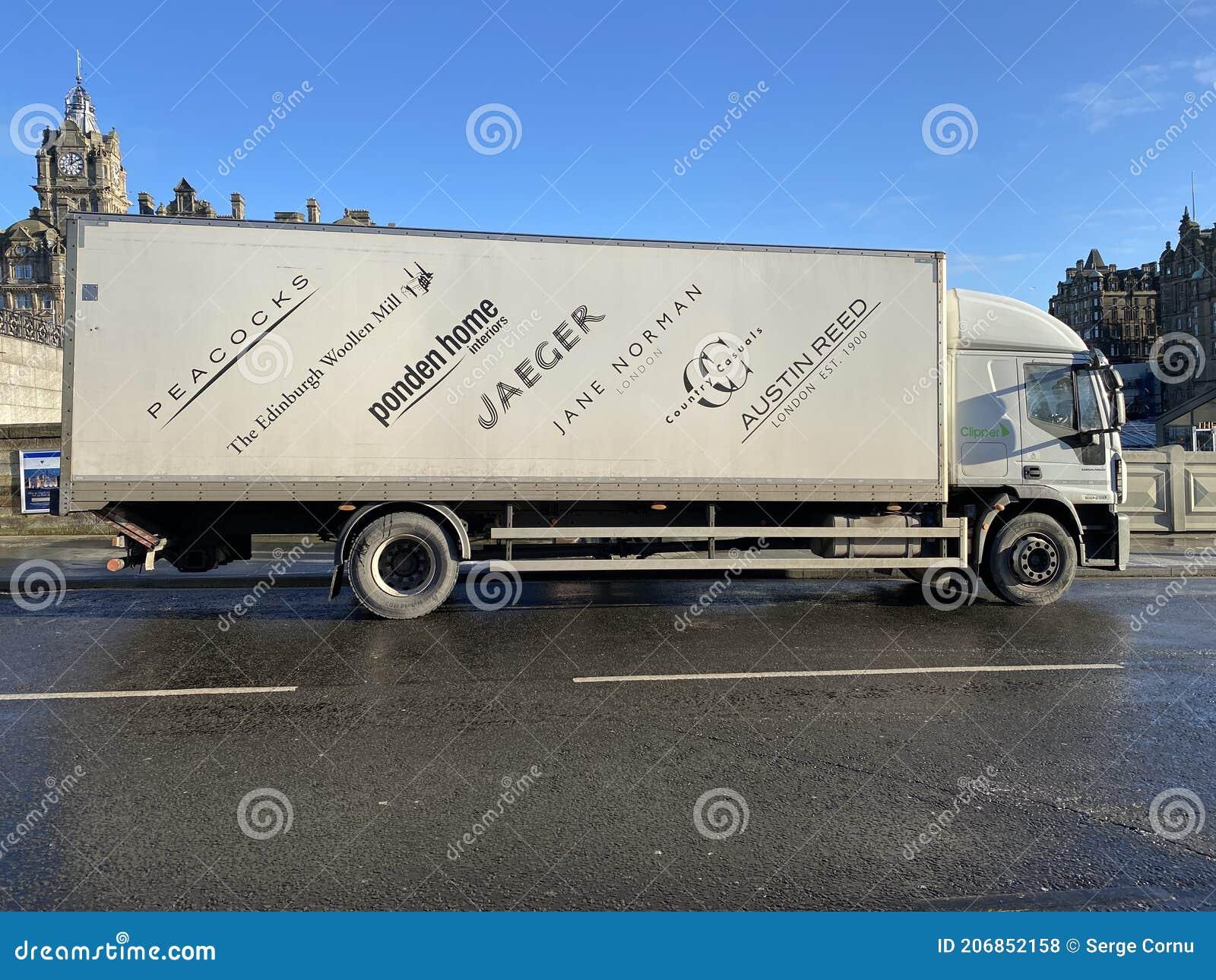 Edinburgh Woollen Mill Lorry Parked On The Street Editorial Stock Photo Image Of Finance Jaeger 206852158