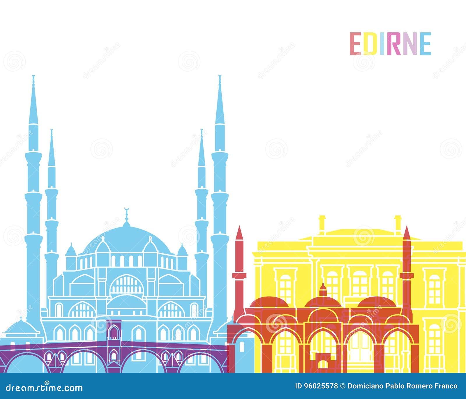 Edirne linii horyzontu wystrzał