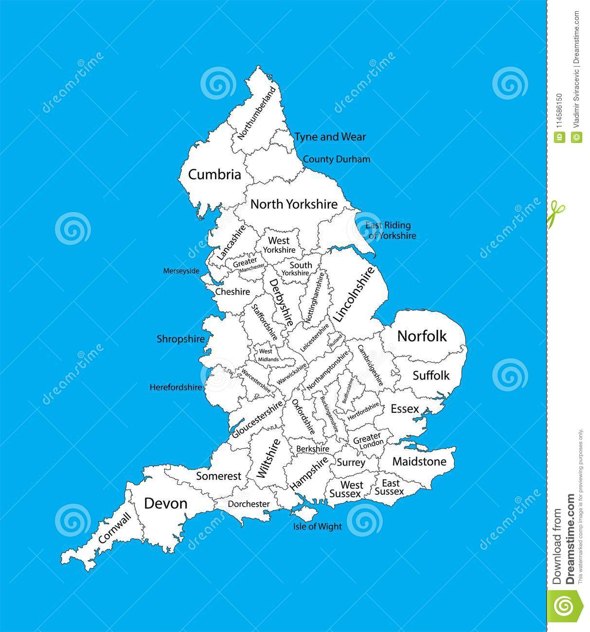 Map Of England Provinces.Editable Blank Map Of England Administrative Divisions Of England
