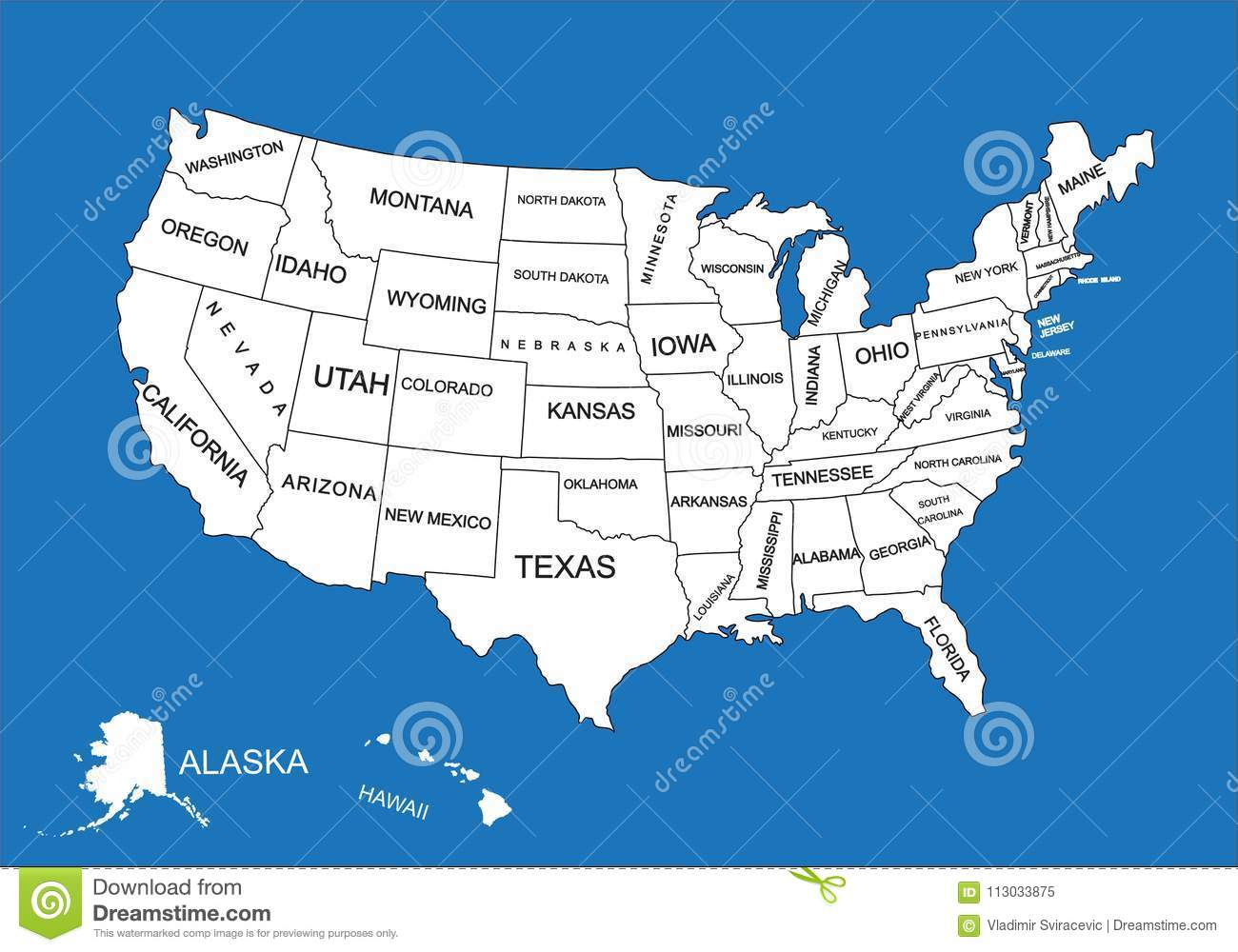 editable blank vector map of united states vector map of united