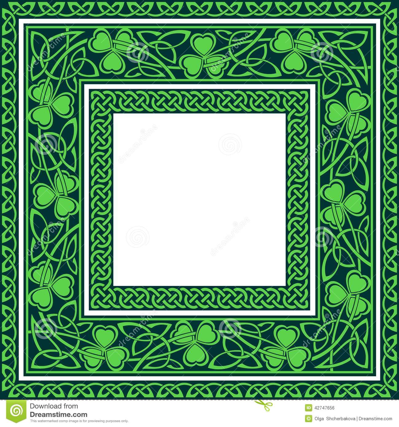 Green Leaf Border Line Editable celtic border...