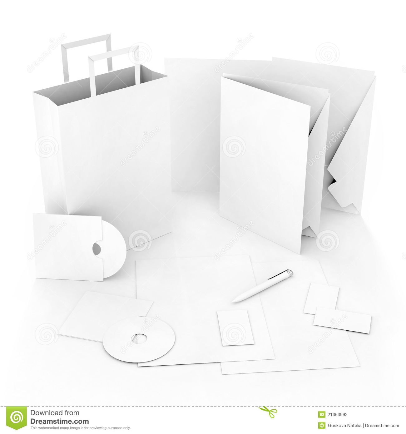 editable corporate identity template stock photography image