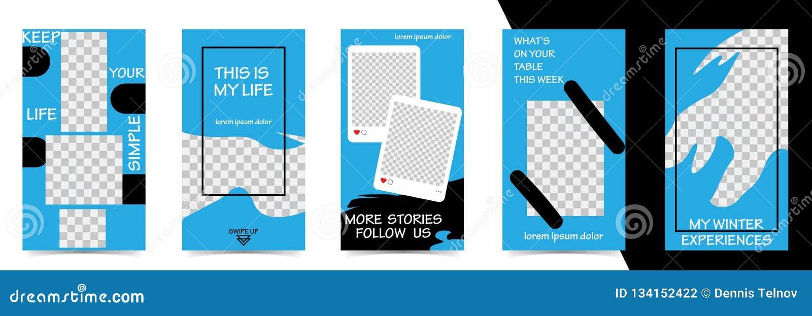 Editable Instagram-Geschichtenschablone strömen