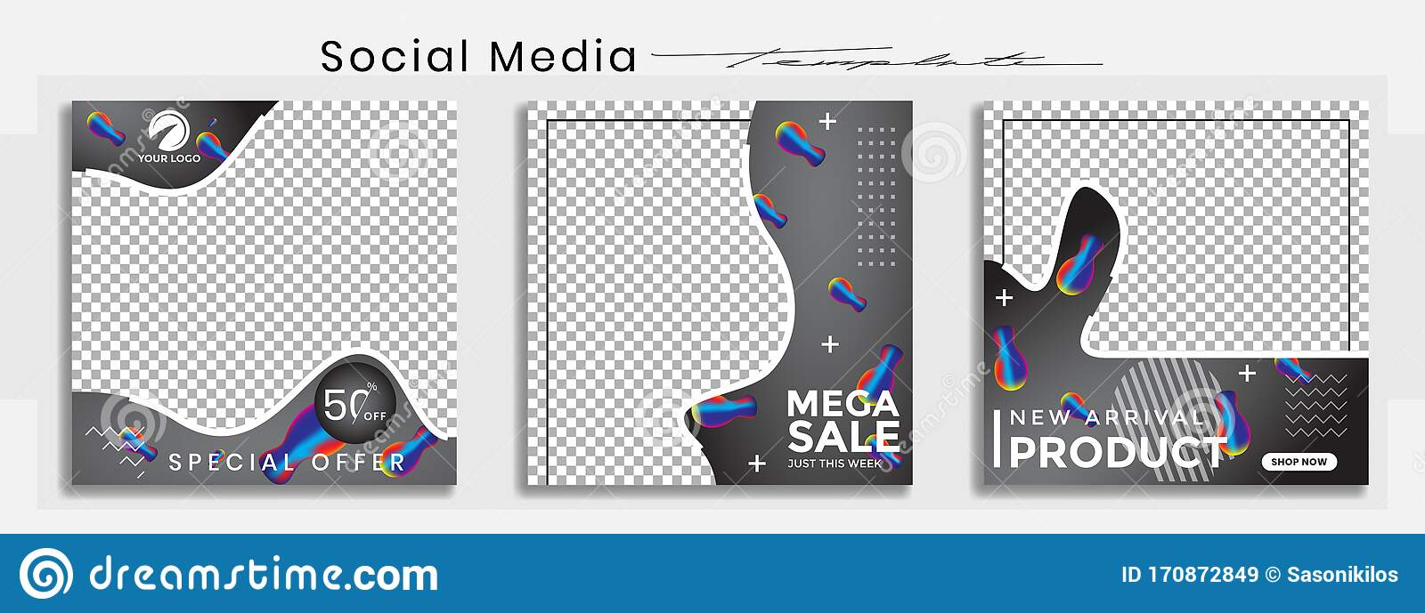 Editable Social Media Post Templates Facebook Instagram Story Collections And Post Frame Layout Designs Mockup For Marketing Stock Vector Illustration Of Fashion Highlight 170872849