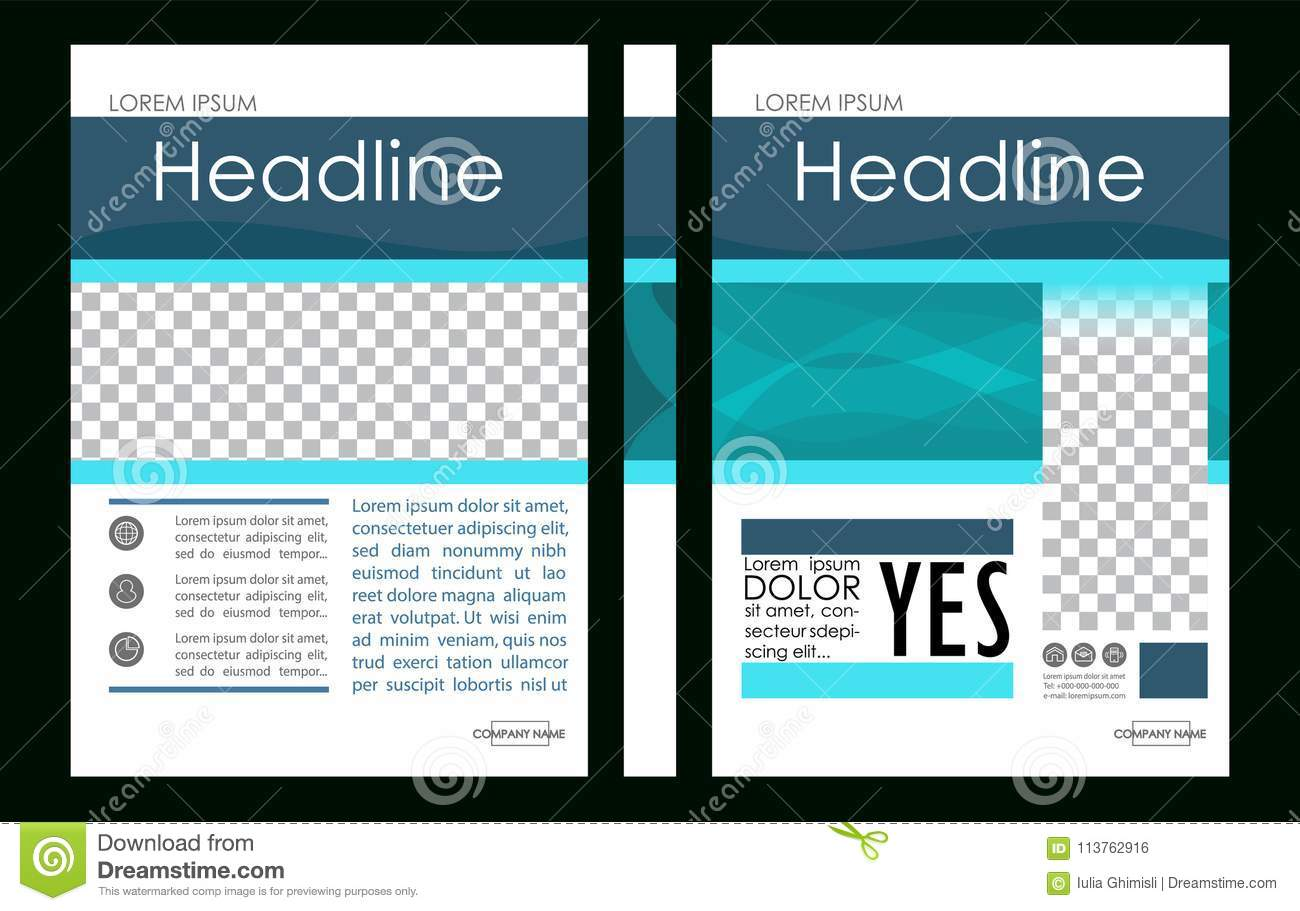 editable vector a4 business book cover layout design template f