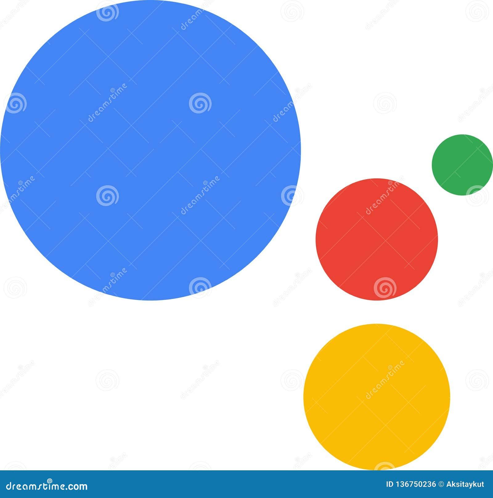 Editorial - Google Assistant Icon Vector Logo Editorial