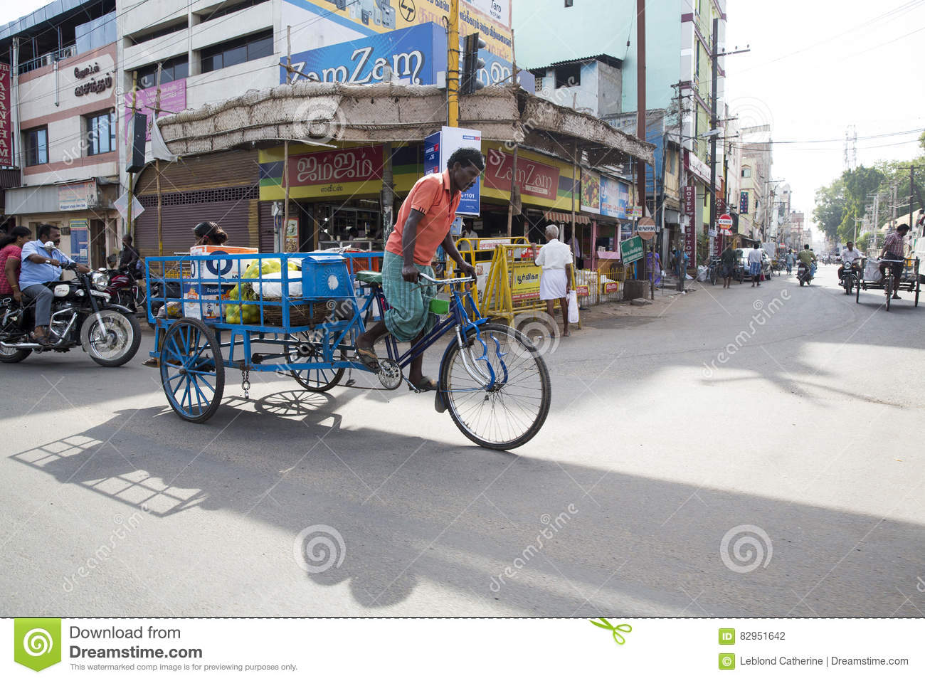 Editorial Illustrative Image  Cycle Transportation In India