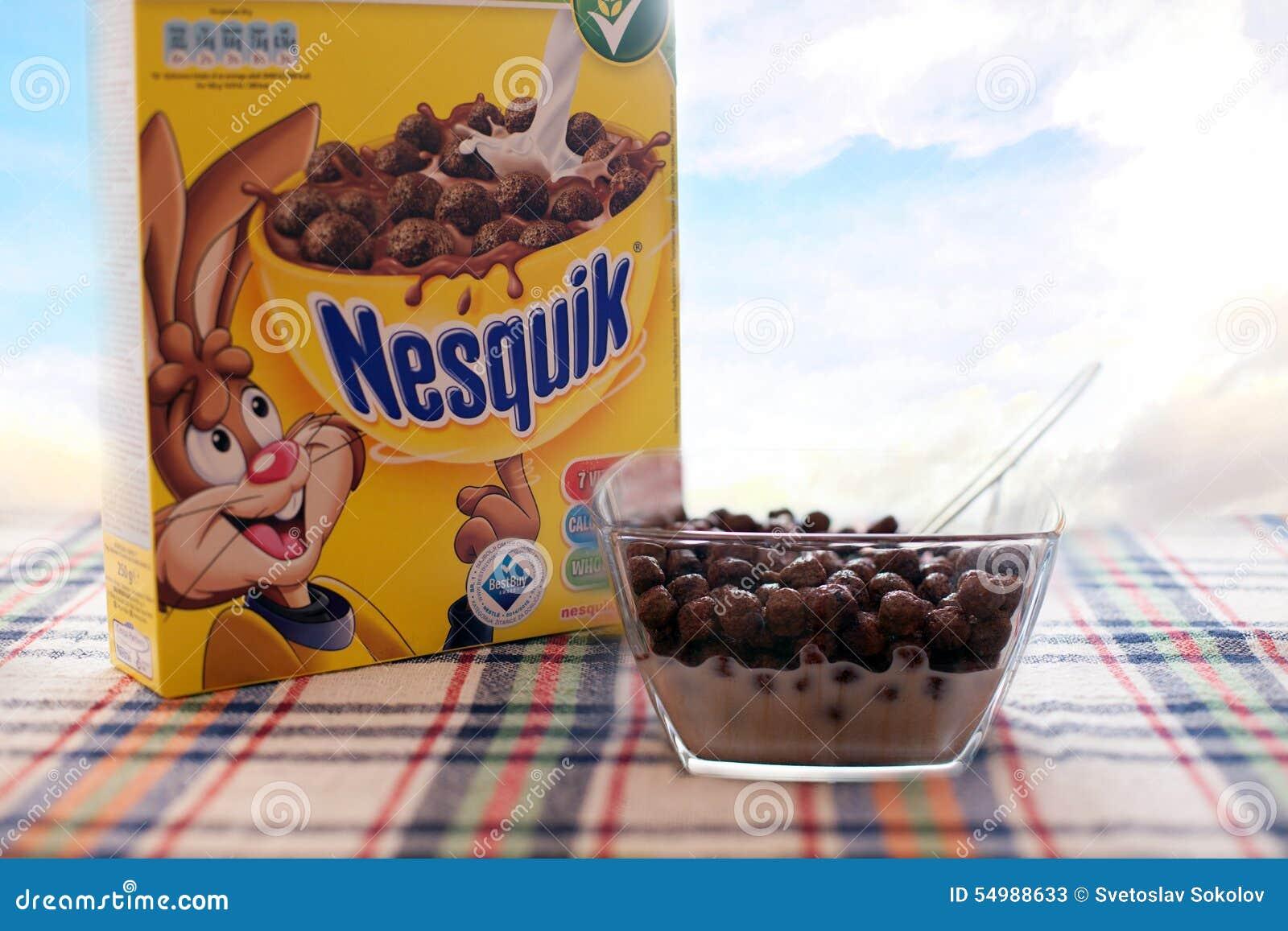 Editoriale del nesquik di Nestle
