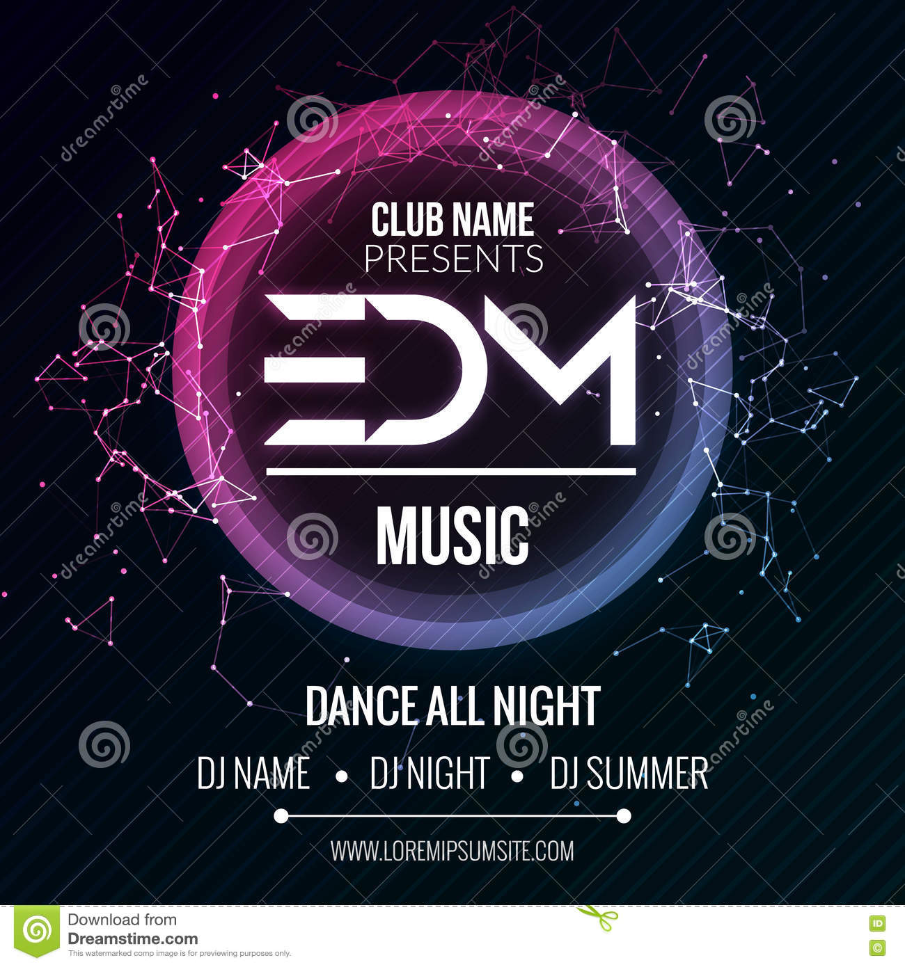 Edm club music party template dance party flyer brochure night edm club music party template dance party flyer brochure night party club sound banner poster saigontimesfo