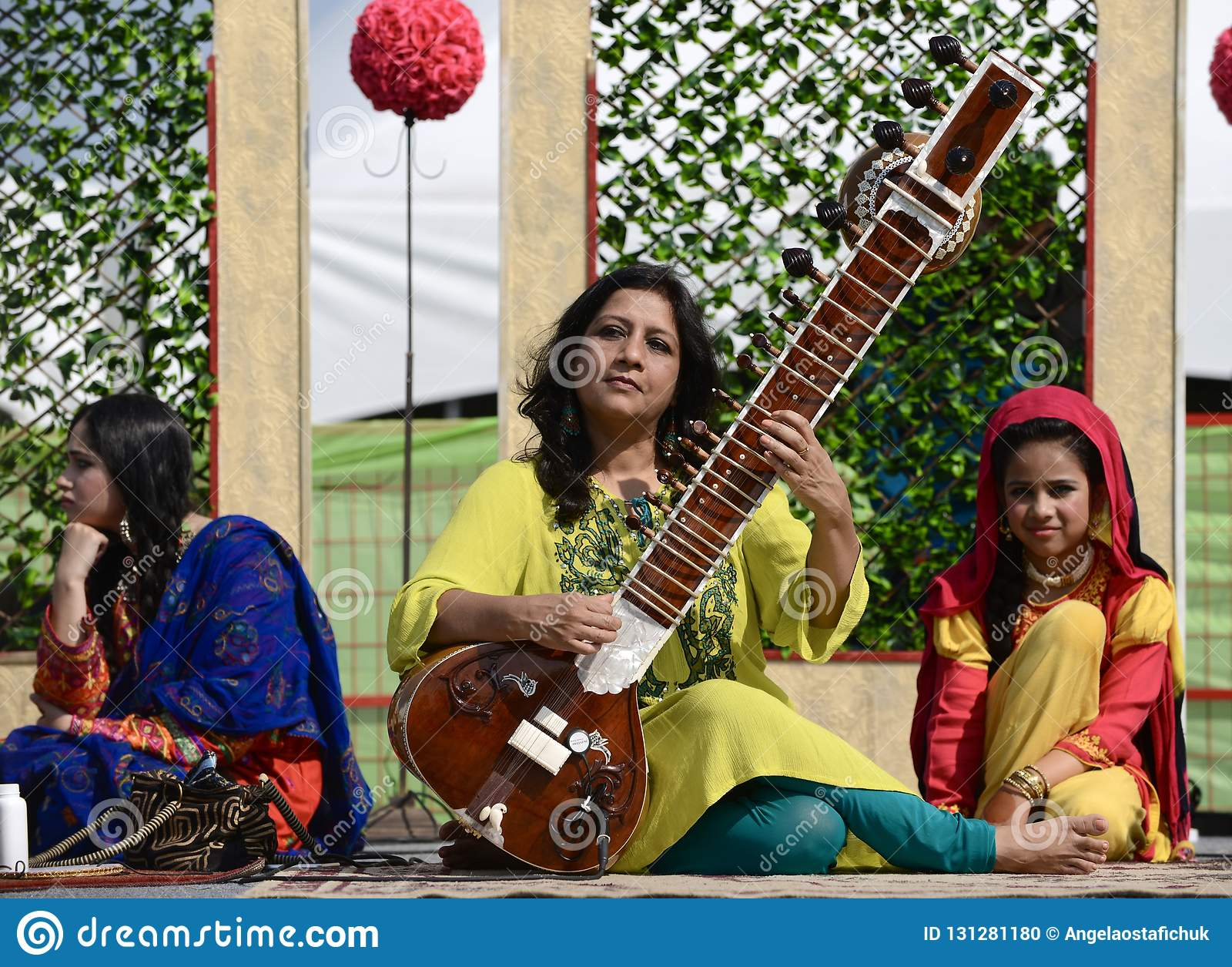 Edmonton, Canada-August 5, 2018: Performers at the Pakistan pavilion at Edmonton`s Heritage Days