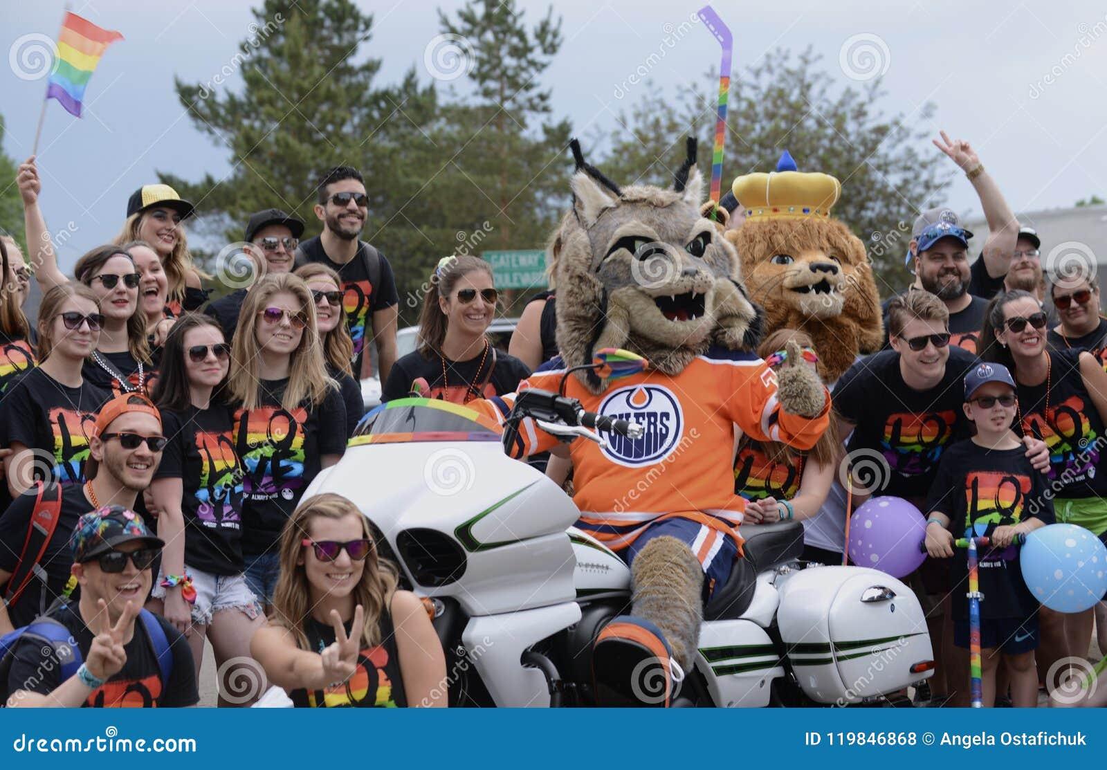 Edmonton, Canada-June 9, 2018: Pride Supporters At Edmonton`s Pride Parade