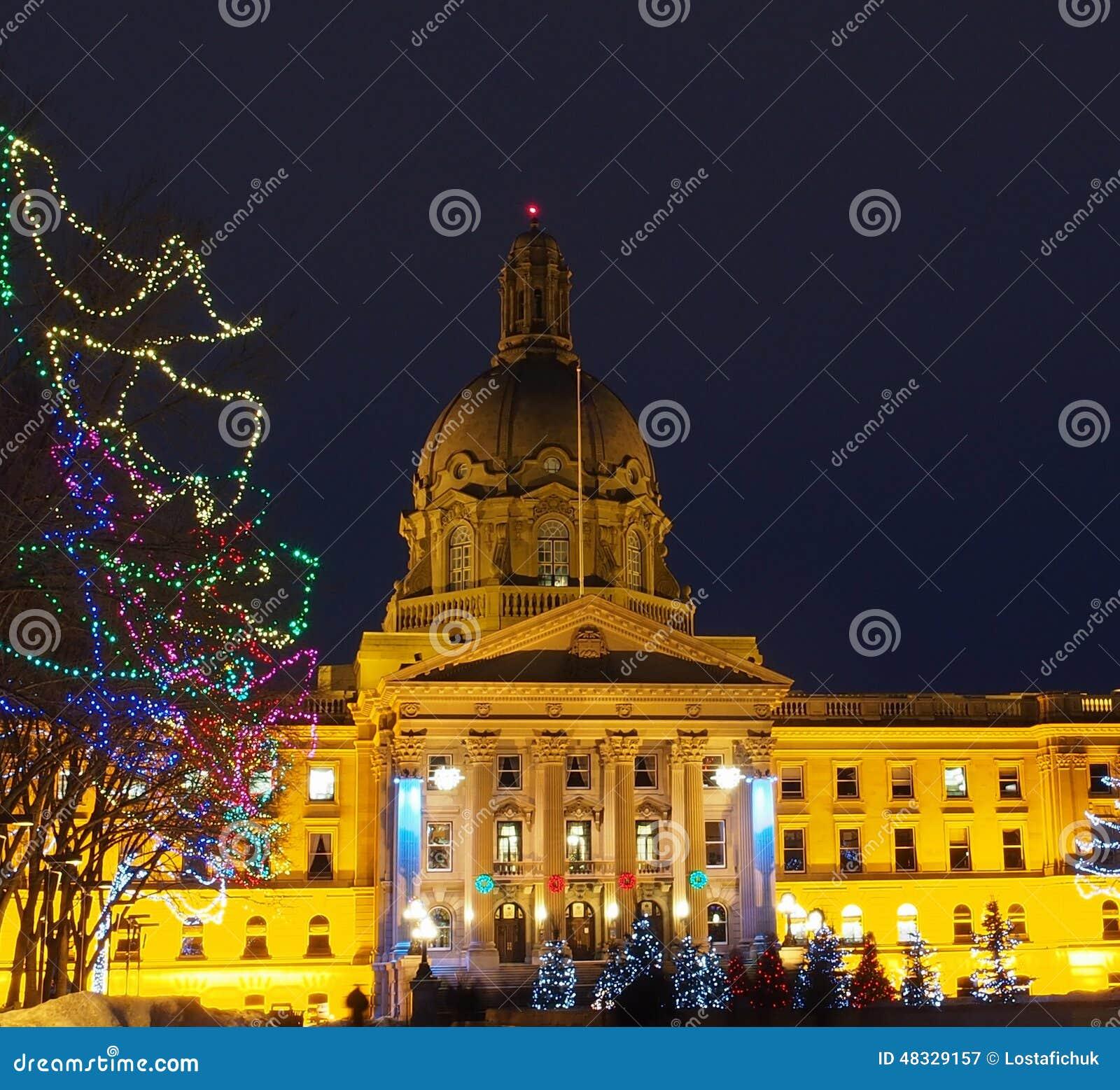 Edmonton de construction législatif, Alberta With Christmas Lights