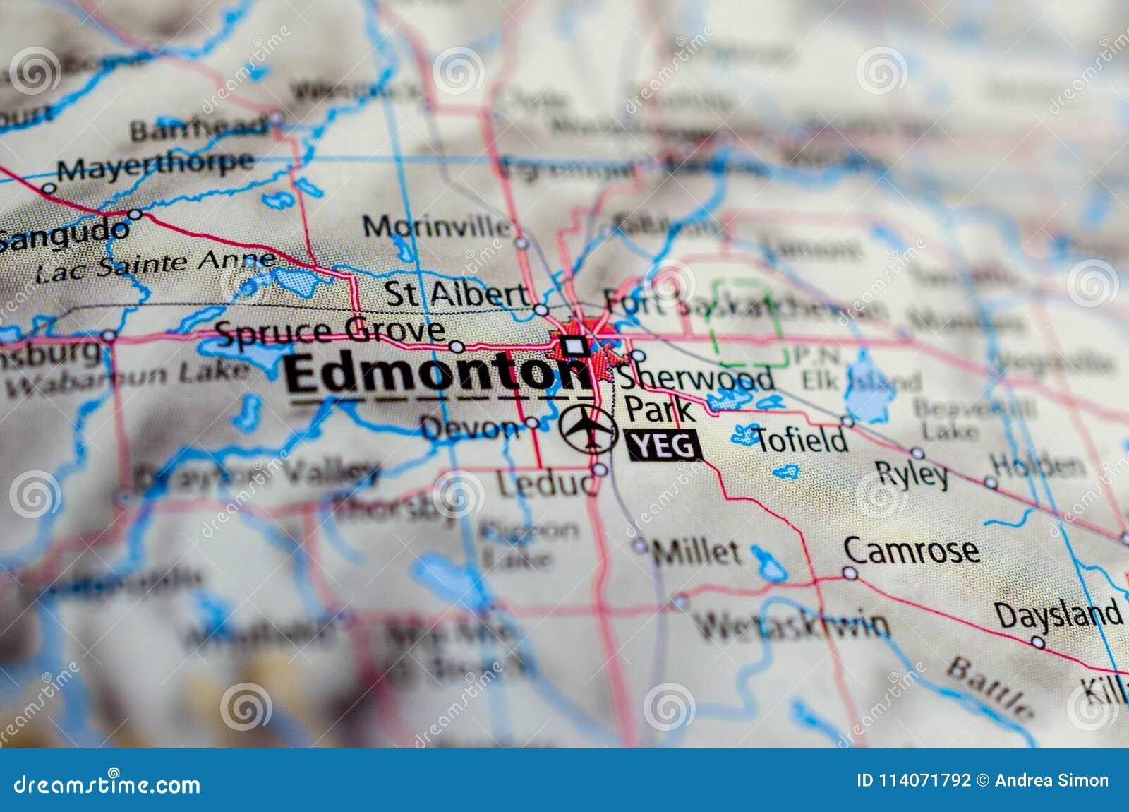 Edmonton en mapa