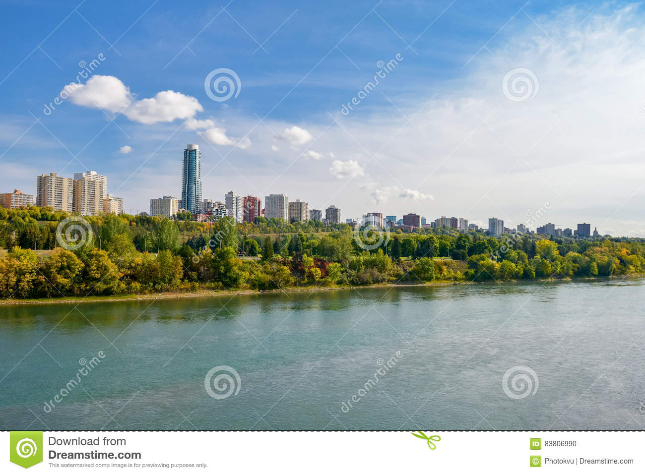 Edmonton from the River
