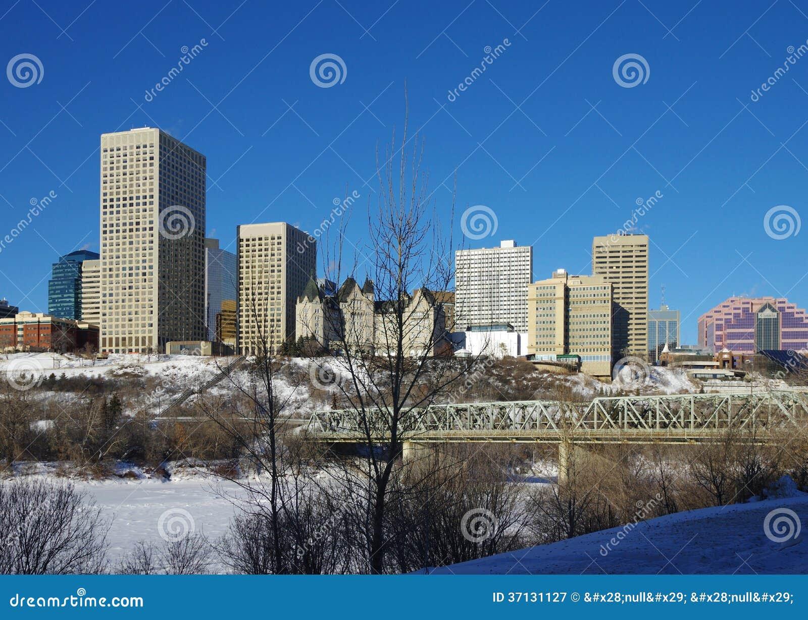 Edmonton w zimie
