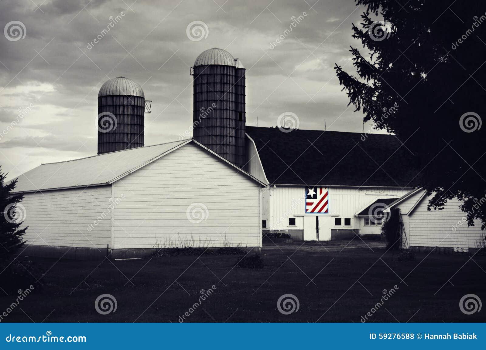 Edredón patriótico del granero