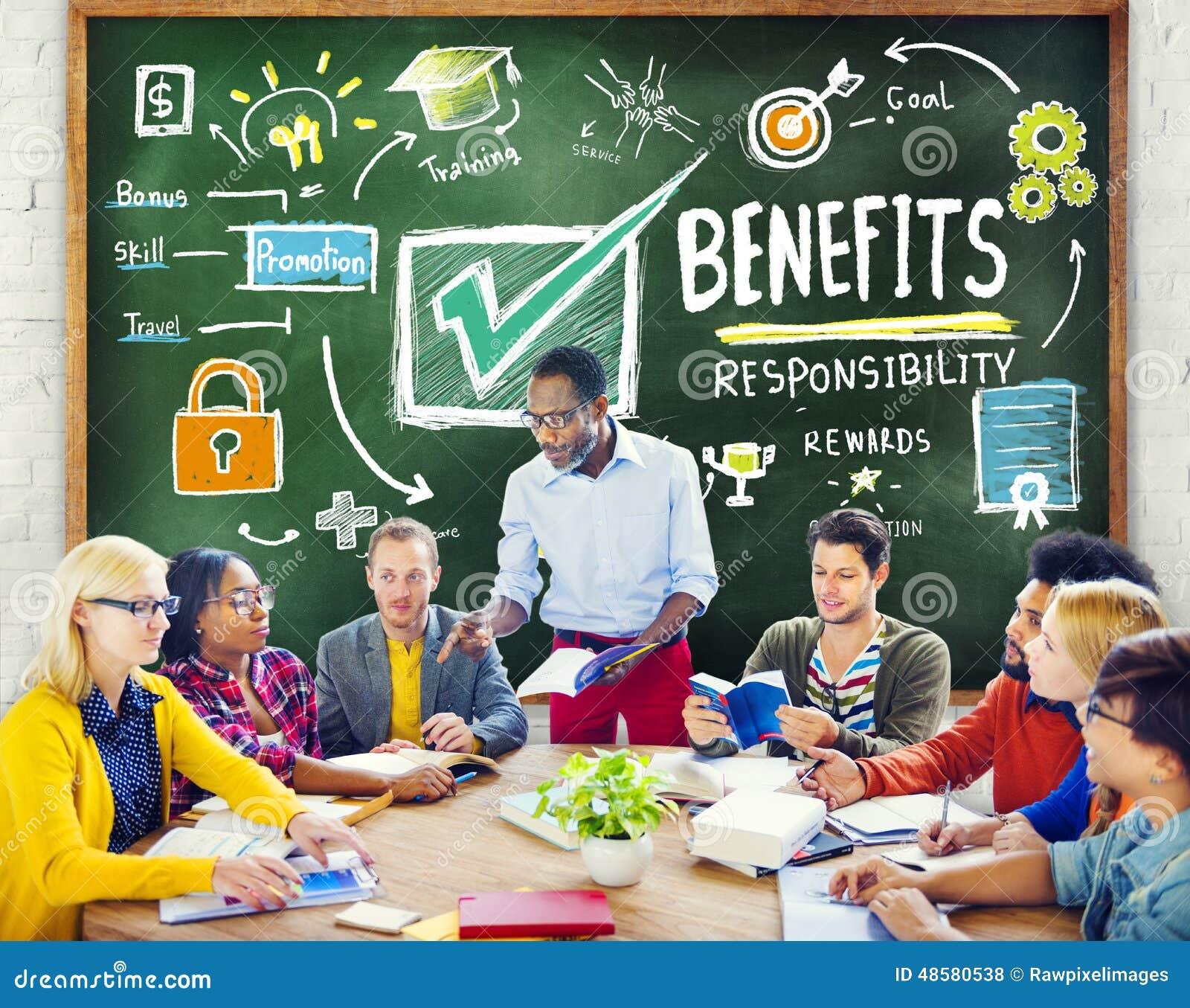 Educação da renda do salário do lucro do ganho dos benefícios que aprende o conceito