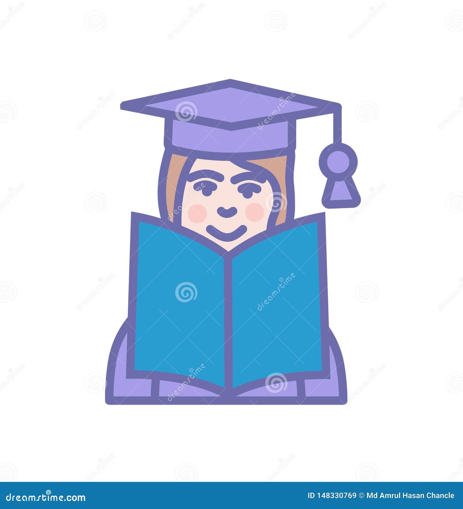 Educa??o que aprende o livro aberto do ?cone com s?mbolo do sinal do estudante ou do professor
