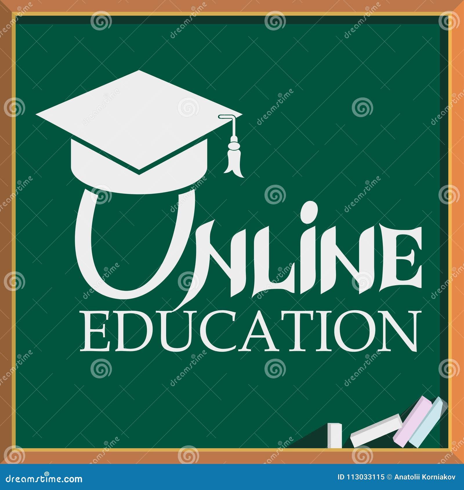 Educación en línea Iconos del concepto para el web y los servicios móviles