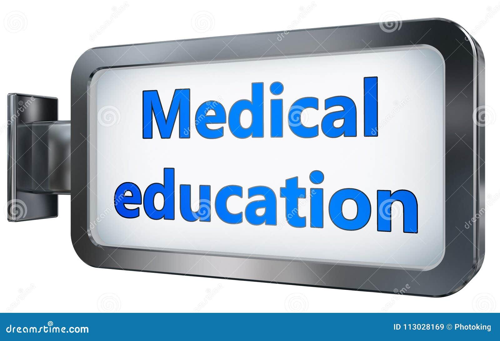 Educación médica en fondo de la cartelera