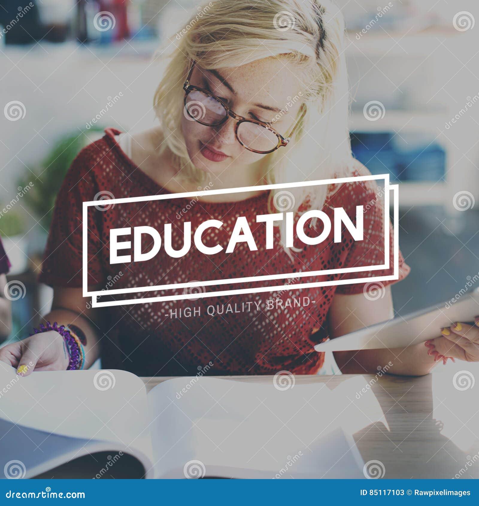 Educación que aprende concepto de la inteligencia del conocimiento del estudio