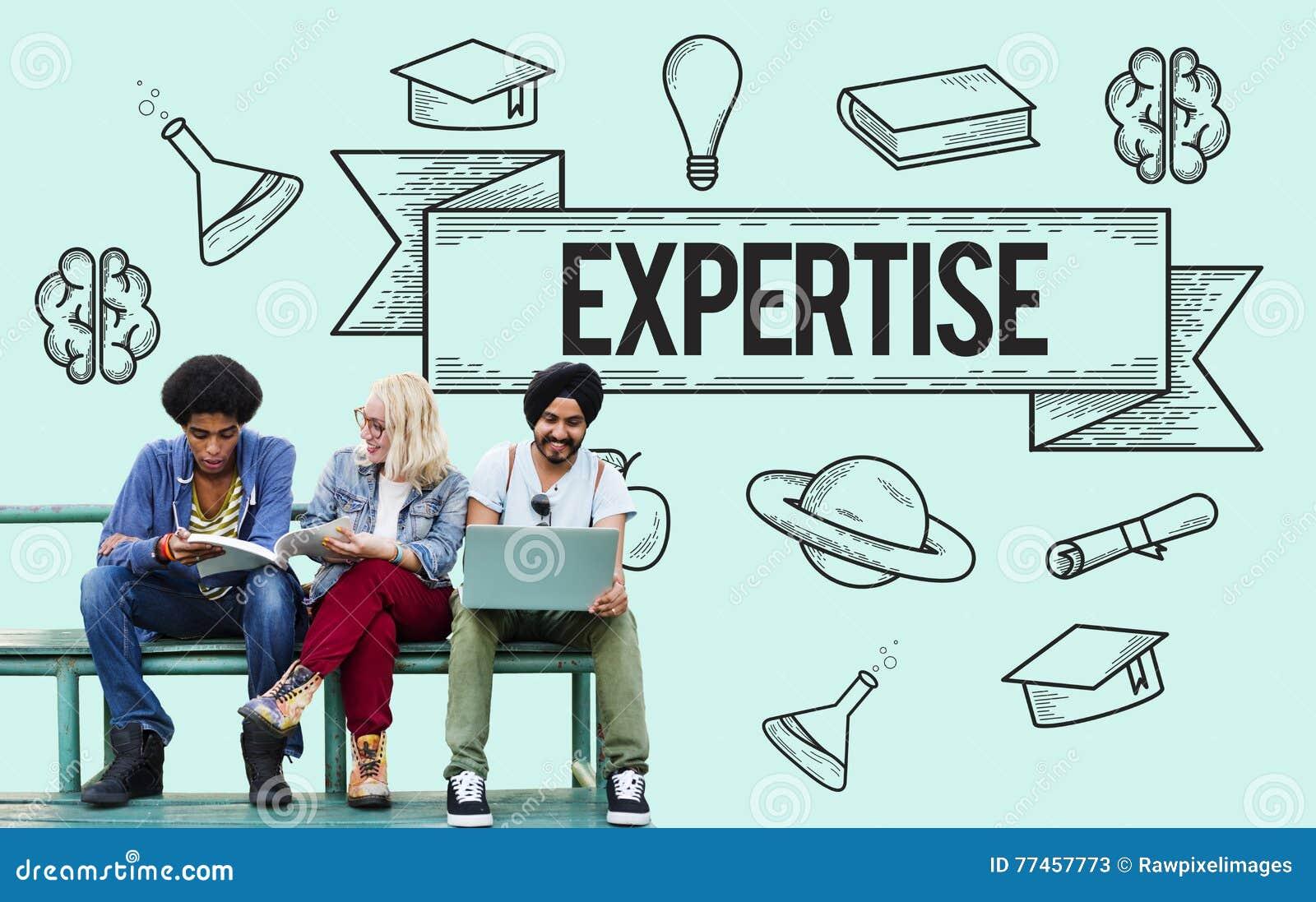 Educación que aprende concepto del conocimiento del estudio de las ideas
