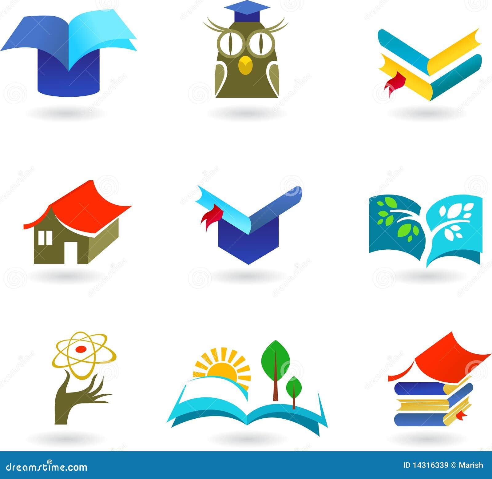 Book logos stock vector image 42714029 - Educaci N Y Ense Ar El Conjunto Del Icono Im Genes De Archivo Libres De Regal As