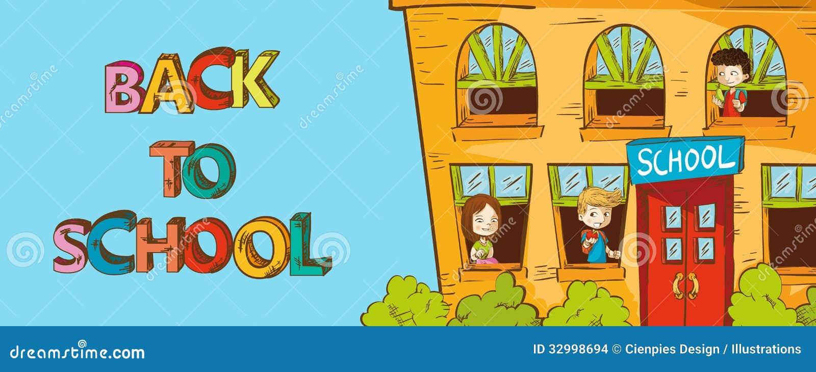 Desenho De Uma Escola Colorida Melhores Casas De Todas As