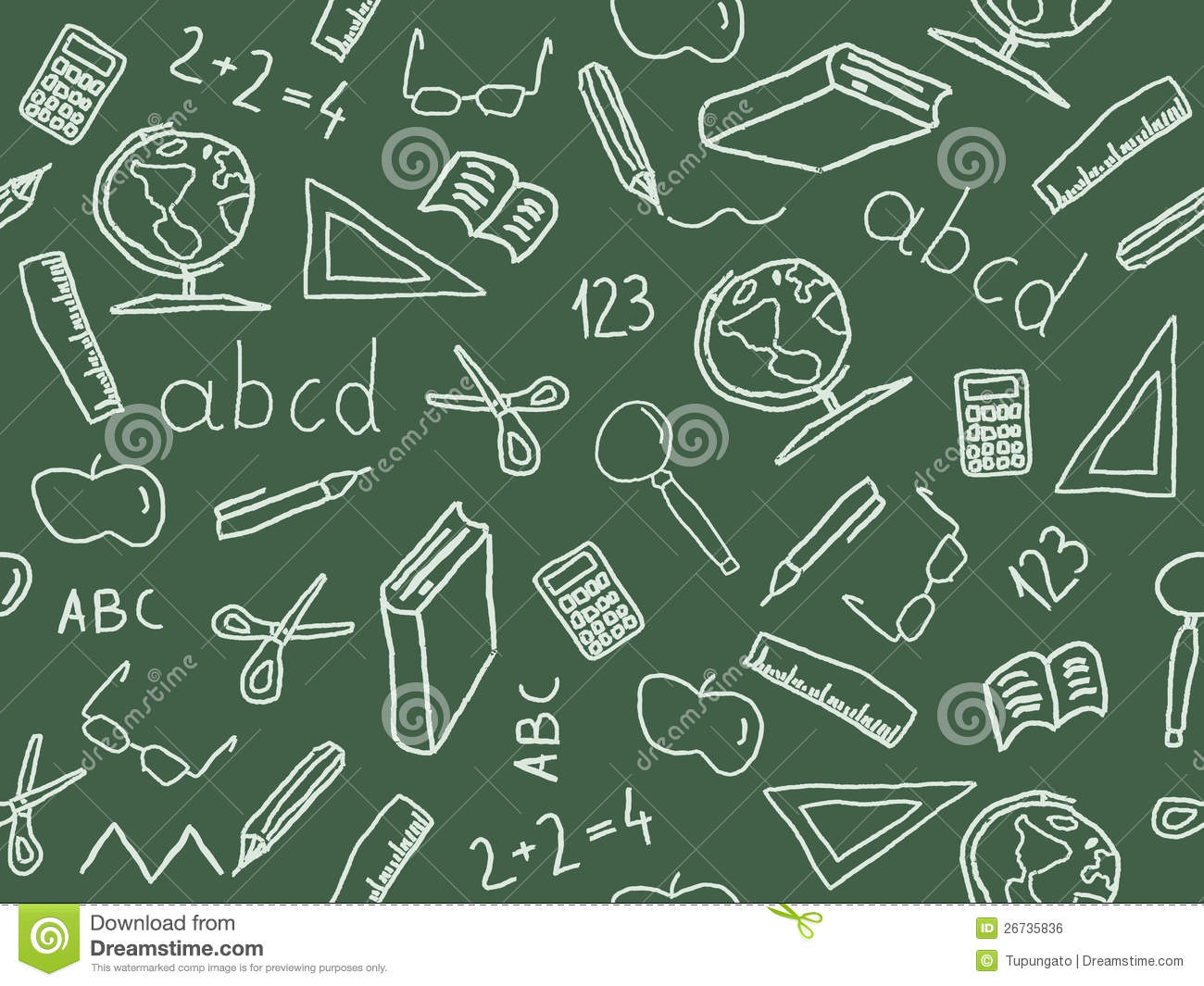 Seamless pattern with school object icon and symbols. Education ...