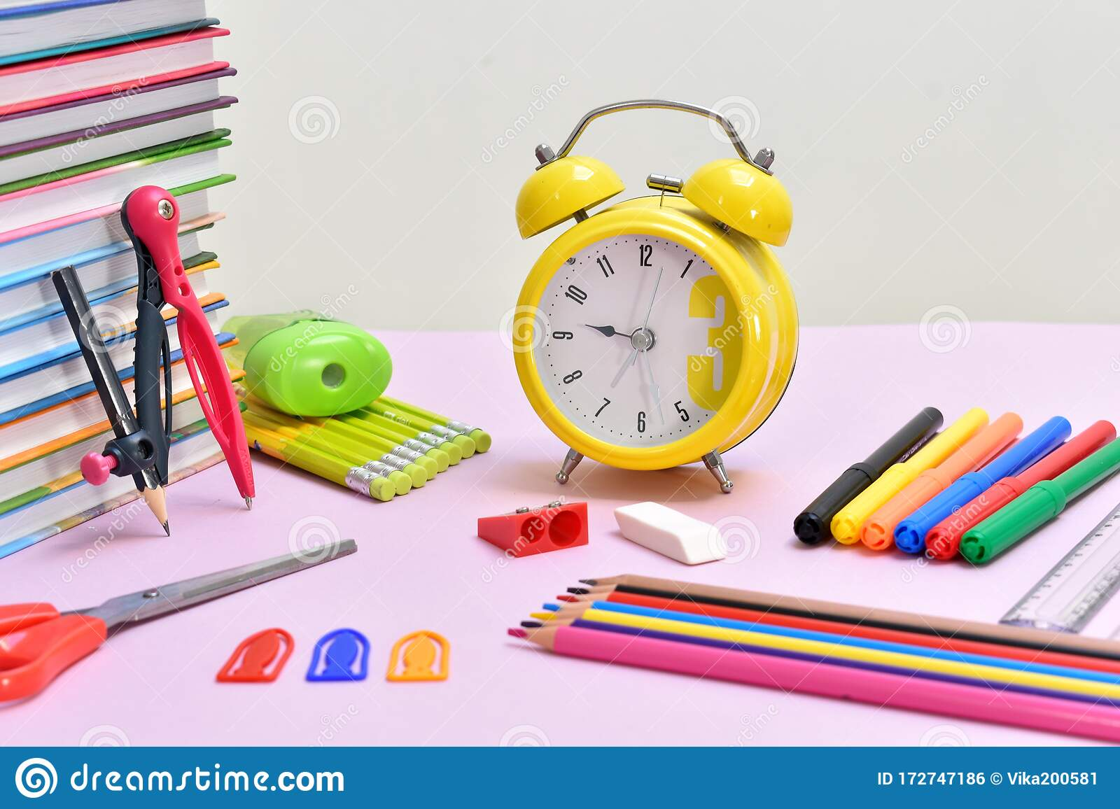 Education Background Stationery Training Time School Knowledge Stock Photo Image Of Color Desk 172747186