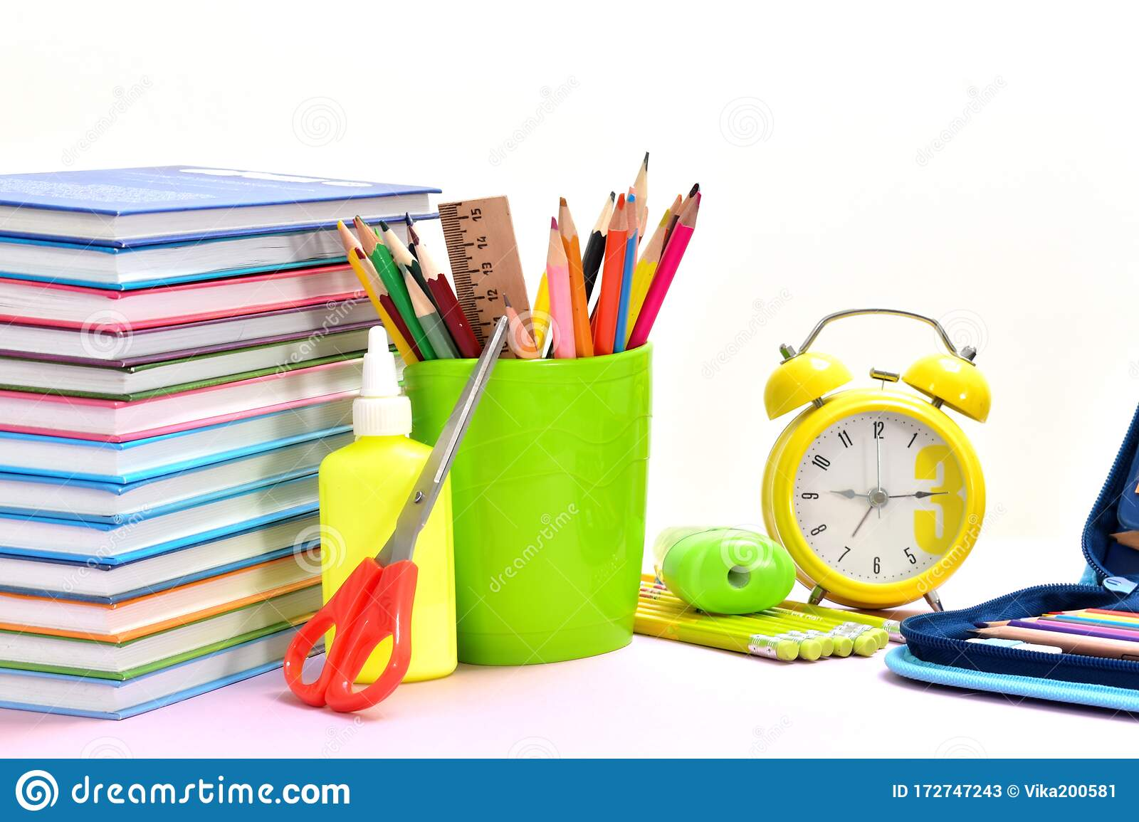 Education Background Stationery Training Time School Knowledge Stock Image Image Of Background Nobody 172747243