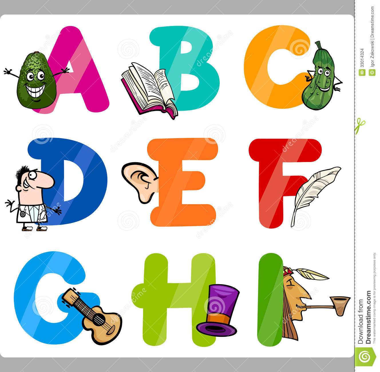 Cartoon Characters Letter Z : Education cartoon alphabet letters for kids vector