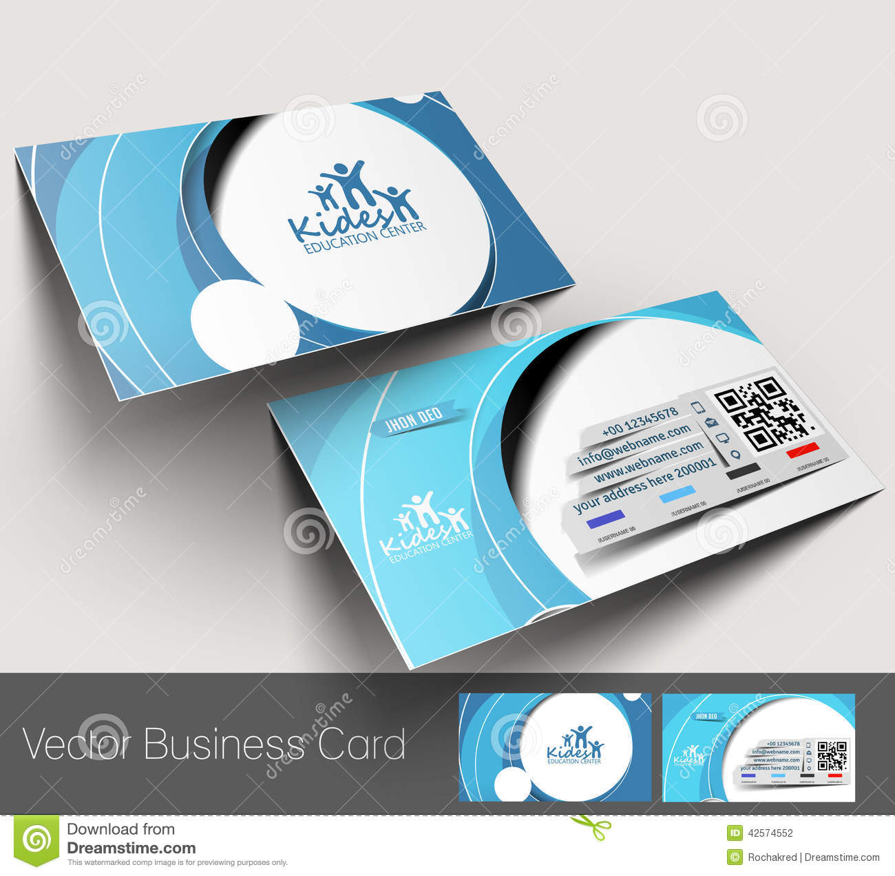 Education Center Business Card Stock Vector - Image: 42574552