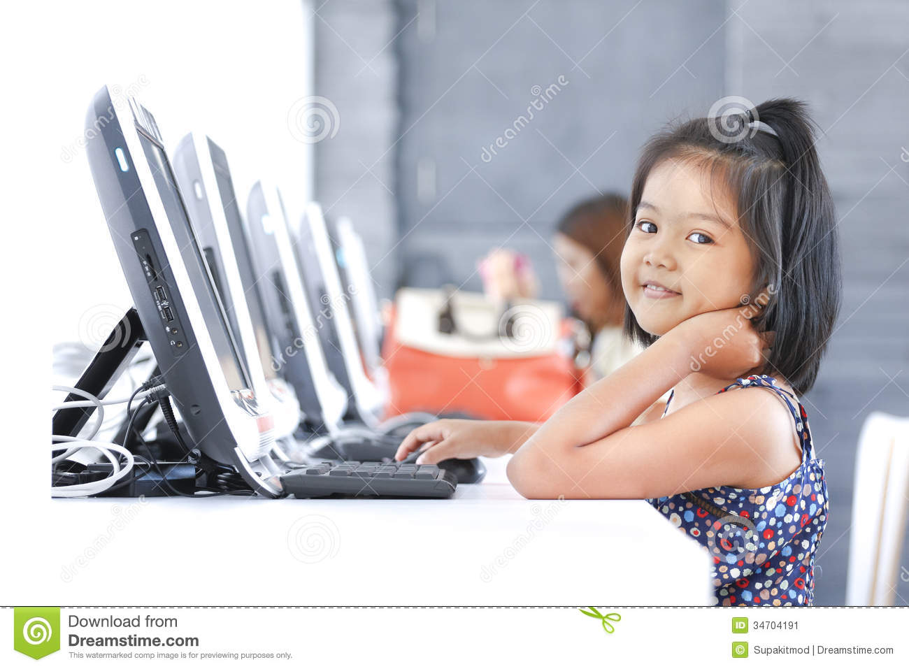 education by computer stock image image of technology