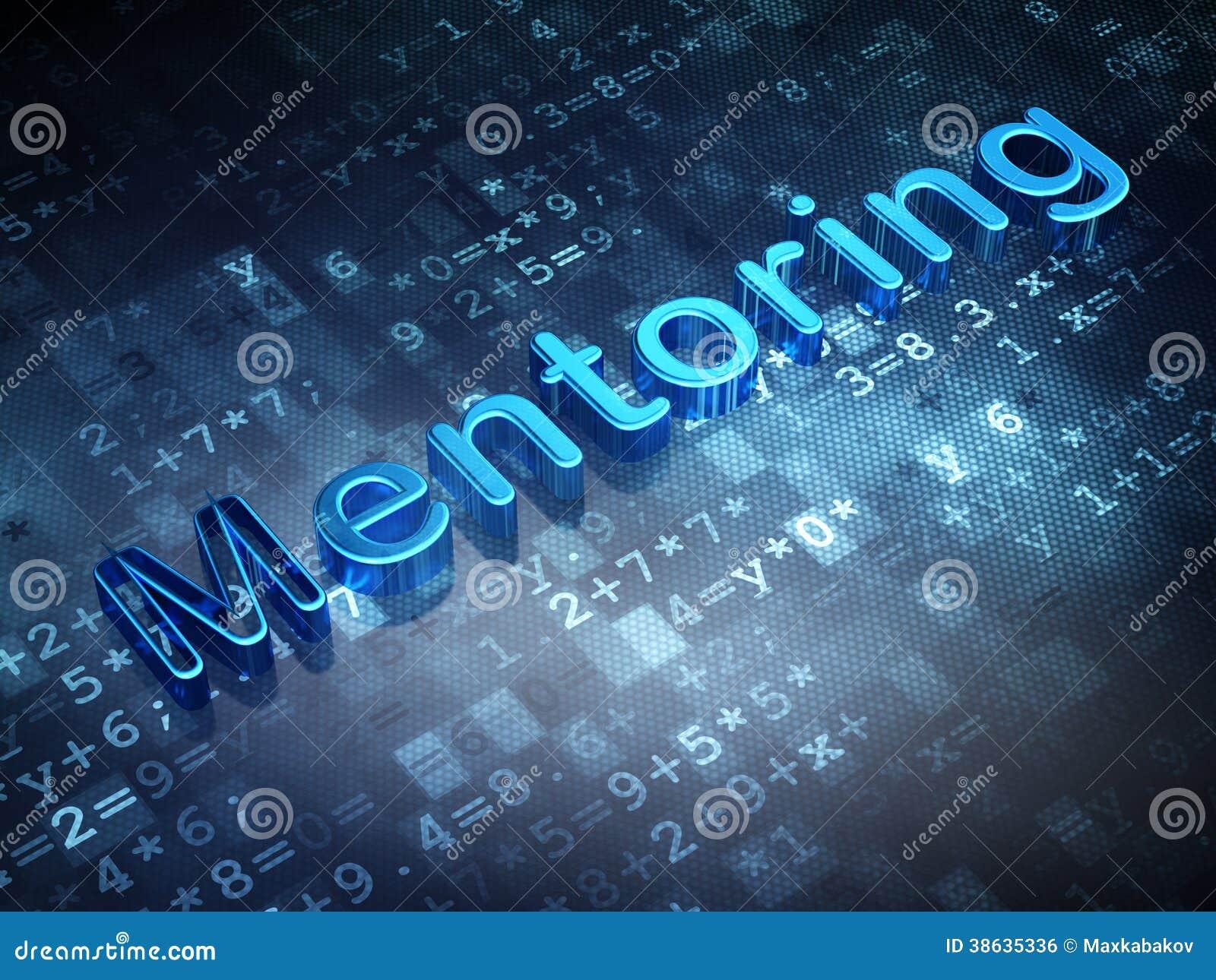Education concept: Blue Mentoring on digital background