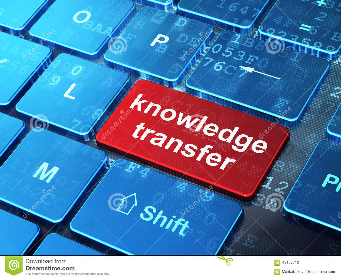 education concept  knowledge transfer on computer stock photo