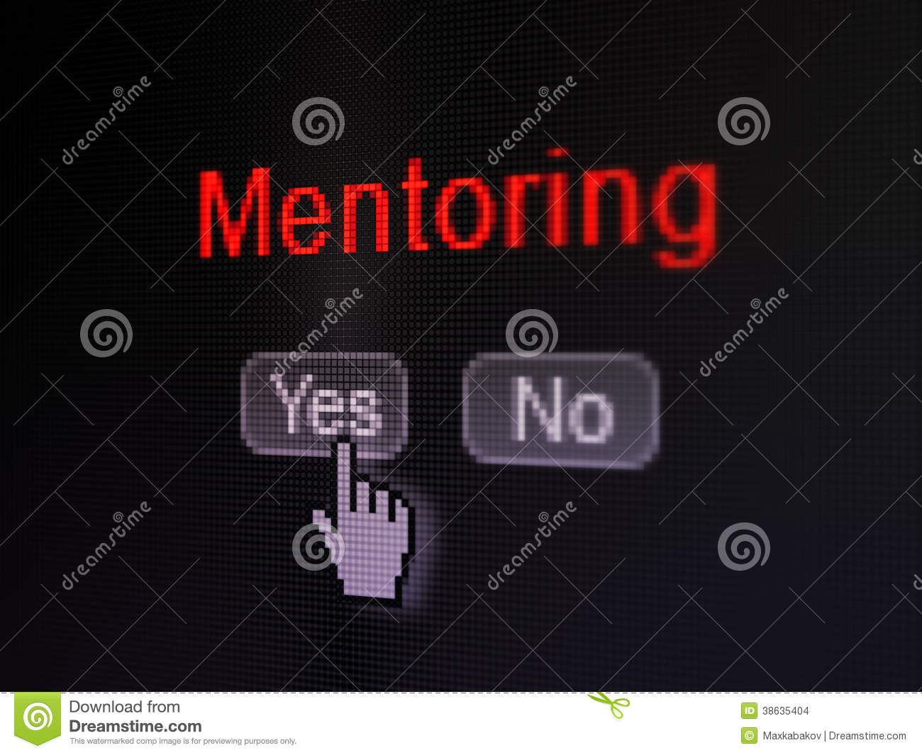 Education concept: Mentoring on digital computer screen